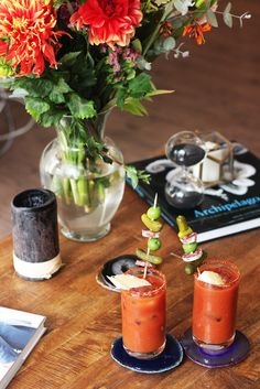 Kelsey Malie: Bloody Mary's served on our beautiful Agate Coasters.