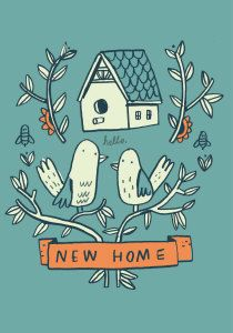 Roger la Borde | Petite New Home Card by Mike Lowery
