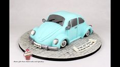 Volkswagen Beetle - Cake by Maria& - Driving Home For Christmas, Bug Cake, Gravity Defying Cake, Leo Birthday, Cake Youtube, Cake Decorating Tutorials, Sugar Art, Cake Tutorial, Recipes