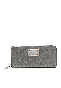 MICHAEL Michael Kors Metallic MK Signature Zip Around Continental Wallet on sale for $103.50 - GOLD!!