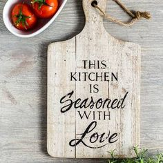 Winston Porter Keep your kitchen comfortable and welcoming with the This Kitchen Wall Décor. This wooden piece hangs from a small rope and serves as a reminder of the care you put into your cooking.