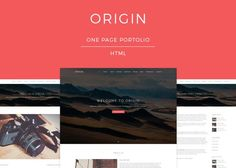 ThemeForest - Origin - One Page Portfolio Template Free Download