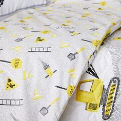 Roadworks Quilted Quilt Cover Set