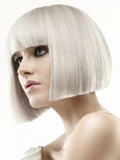 Silver blonde hairstyle