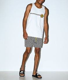 Mix your swimwear with streetwear in the Fairplay Boardy Neon Checkered Black & White Board Shorts. With a brililant checkerboard pattern throughout, and a neon green drawstring for a splash of color, these comfortable shorts are perfect for any situa Checkerboard Pattern, Neon Green, Color Splash, Elastic Waist, Streetwear, Black And White, Shorts, Swimwear, Model