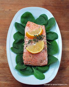 Baked Salmon with Herbs by eintopf: Baked in foil or paper! #Salmon #Baked #Herbs #Easy #Healthy