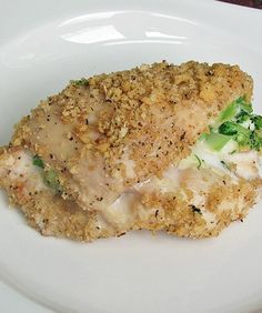 Skinny Broccoli & Cheese Stuffed Chicken! SO delicious using Laughing Cow Cheese! Your whole family will love this!