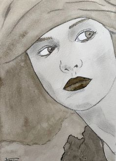 © KA's Illustrations, Female, Ink Drawings, India Ink, Paint, Illustration, Character Illustration, Illustrators, Drawings