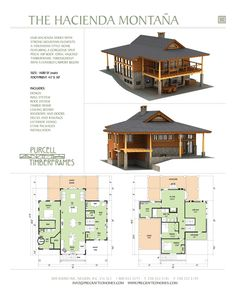 Purcell Timber Frames - The Hacienda Montana Prefab Full Home Package