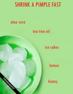 How to Shrink a Pimple Fast with natural remedies