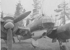 Junkers 88 -syöksypommittaja Onttolan kentällä.