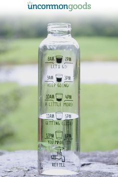 Motivational Water Bottle - Sip your way through two full bottles of water per d.Motivational Water Bottle - Sip your way through two full bottles of water per day. Health And Beauty, Health And Wellness, Health Tips, Health Fitness, Health Benefits, Water Benefits, Healthy Habits, Get Healthy, Healthy Food