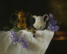 The Gift of Lilacs by Barbara Jones Oil ~ 18 x 24