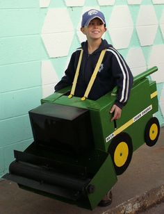 My friend Eric's sister made his nephew this amazing combine costume for Halloween this year. The rest of the country should kneel before your humble, Midwestern masters!