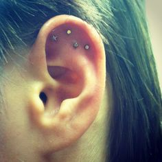 Shooting star ear piercing