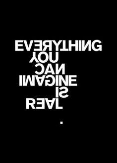 pablo picasso imagination creativity freedom inspirational motivation chic typography quote swiss international style
