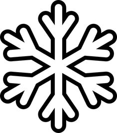 simple snowflake coloring pages - Enjoy Coloring