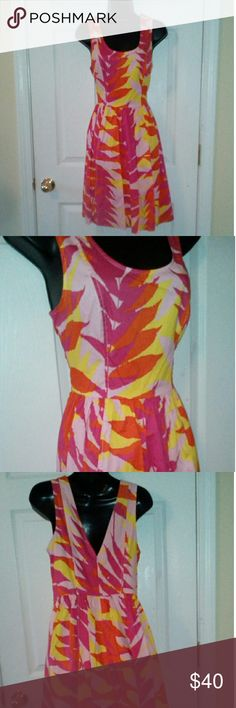 """Plenty Tracy Reese beautiful dress sz 8 Vibrant colors perfect for any occasion.  18"""" armpit to armpit 16.5"""" across waist 37"""" length Plenty by Tracy Reese Dresses"""