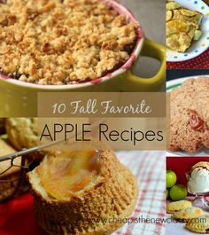 Have some extra #apples you don't know what to do with? Try using them in one of these 10 Favorite #FallRecipes Using Apples :) http://cheapisthenewclassy.com/2014/09/fall-recipes-with-apples.html #recipes #food #applerecipes