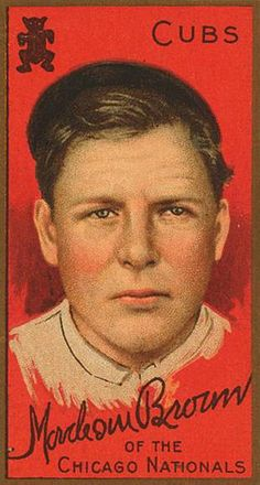 Mordecai Brown, Pitcher, Chicago Cubs, National League, 1911.