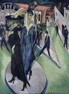Place de Postdam, par Ernst Ludwig Kirchner