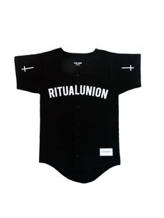 """Ritual Union — Black """"Source of Paranoia"""" Baseball Knit #streetwear #streetwearfashion #street #streetstyle #veryrare #menswear #supremenyc #pigalle #outfitoftheday #pyrex #pyrexvision #beentrill #givenchy #supreme #balmain #hba #hoodbyair #rhude #hypebeast #outfitgrid #ktz #kanyewest #yeezy #yeezus #asaprocky  #blackfashion #givenchy #mensfashion #highsnobiety"""