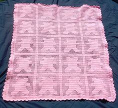 Looking for crocheting project inspiration? Check out Filet Crochet Teddy Bear Baby Blanket by member Scampercat. - via @Craftsy