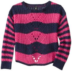 Amazon.com: Jessica Simpson Girls' Loreen Striped Popover: Clothing