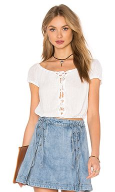 c1d5ccef712b0 Shop for Free People Popsicle Off the Shoulder Top in Ivory at REVOLVE.