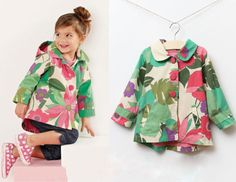 Aliexpress.com : Buy 2013 hot sale Lendon design autumn girl's trench, big flower children outwear kids coat from Reliable girl's trench suppliers on Top Designer clothes $28.19