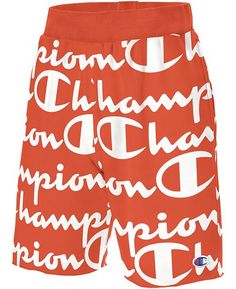 Champion Men's C-Life Logo-Print Shorts - Groovy Papaya Life Logo, Man Logo, Dress With Sneakers, Shorts Online, Plus Size Activewear, Jeans Dress, Short Outfits, Trendy Plus Size, Juicy Couture