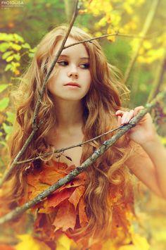 red long curls   Goodbye, autumn II by ~Isa-Wyrd on deviantART