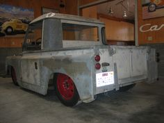 1964 Land Rover Series IIA Lowered 15 inches on custom frame. VW Engine... Porsche Spare tire rims.