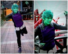 Beast Boy cosplay! I love the modifications he made to the costume, it looks a lot better!