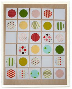 Fabric memory card game (can also quilt this entire project if not wanting to make actual cards)