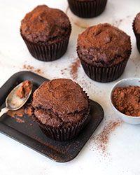 Gluten-Free Cocoa and Banana-Hazelnut Muffins Recipe