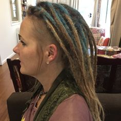 Among the vast number of colour styles for dreads, my client opted with denim blue. After dreading hair I added faux locs for extra length. If you're prefer not to colour your hair you can some vibe to your look by having coloured extensions added. Dreadlocks Pictures, Partial Dreads, Female Dreads, Color Your Hair, Dreadlock Hairstyles, Faux Locs, Hair Type, Blue Denim, Extensions
