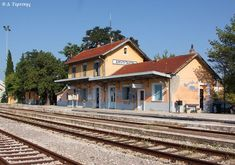Railway station of Amyndeo, Florina Prefecture, west Macedonia, Greece Macedonia Greece, Cabin, Mansions, House Styles, Greek, Memories, Home Decor, Memoirs, Souvenirs