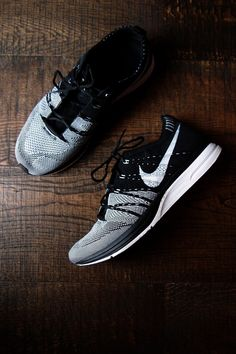 Nike Flyknit Racer, my new running shoes. Smooth, like ice cream.