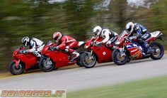 A selection of beauty. Unlike the Japanese, Ducati have radically evolved their bikes through the years.