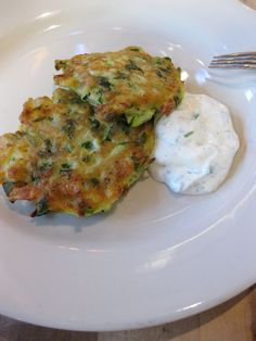 Breakfast Recipe for Squash and Corn Cakes with Crema