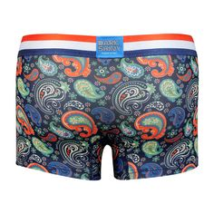 Men's Boxer Pants-Paisley, backprint メンズファッション アンダーウェア ボクサーパンツ #darkshiny #mensfashion #boxerbrief
