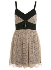 Miss Selfridge Nude Pretty Lace Dress. Notice the cutout detail