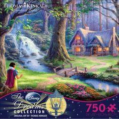 750 Piece Thomas Kinkade Jigsaw Puzzle | Thomas Kinkade - Disney Dreams Collection - Snow White | Thomas Kinkade Disney | nostalgia, Ceaco