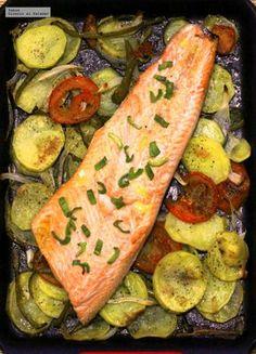 Cocina – Recetas y Consejos Salmon Recipes, Fish Recipes, Seafood Recipes, Cooking Recipes, Healthy Recipes, Fish Dishes, Seafood Dishes, Vegetarian Recepies, Nutrition