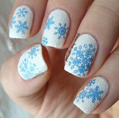 Winter nails by ewlyn  #nails #nailart #nailpolis