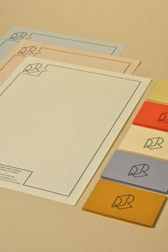 rep-LH-10  Letterhead/envelope/greeting card visual research for self-branding