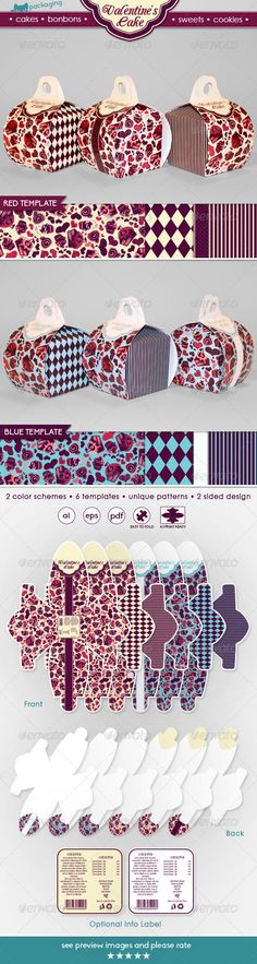 Valentine's Cake Packaging Template Vector EPS, AI. Download here: http://graphicriver.net/item/valentines-cake-packaging/6814464?ref=ksioks