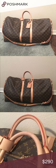 Lv duffle Non auth. Cheaper on merc. Used, but still looks new email us peekabooco @ yahoo.com Bags Travel Bags