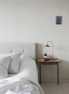 Soft, minimal bedroo
